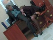Mature secretary fucked by young boss