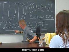 Rilynn's sexy schoolgirl classroom fuck