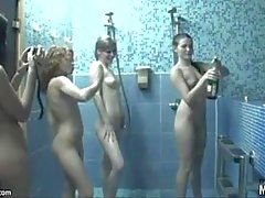 Naked teens all wet and sexy in the shower