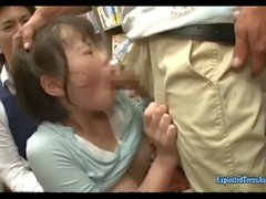 Sanada Miki Ambushed In Book Store Jeans Cut At The Crutch And Made To Fuck