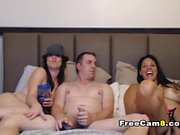 Webcam Girls Toying with Big Dildo HD
