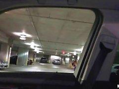 Very tight teen girl fucked in the car