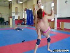 NudeFightClub presents Kerry vs Mira Cuckold