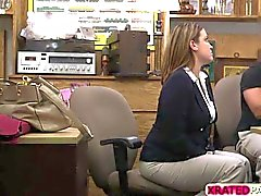 Business lady babe Fucked in the office