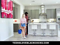 TLBC - Blonde maid fucking big black cock