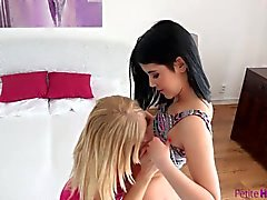 PetiteHDPorn Teen lesbians love eating pussy