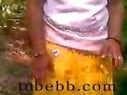 Tamil girl in forest enjoyed 3 guys