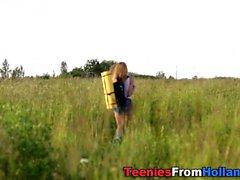 Sperm sprayed dutch teen