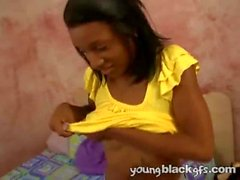 Naughty ebony teen gives a great interview