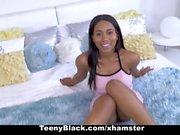 TeenyBlack Hot Ebony Babe Seduces Camera Man