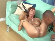 Fake tits redhead Milf gets devastated by a throbbing BBC