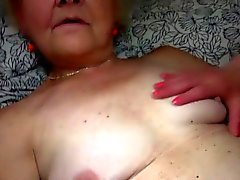 Teen and granny masturbate