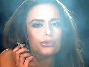 Naked Sarah Arnold smoking strong Marlboro reds cigarettes