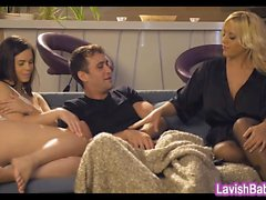Blondie Fesser and Nekane glamour threesome session