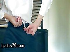Luxury women in pants enjoying strap