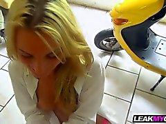 Sexy blonde girl next door fucking in homemade sex video