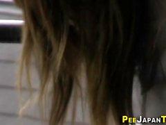 Japanese teen pees public