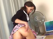 WANKZ Cute Schoolgirl Fingering Her Ass