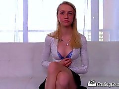CastingCouch-X - Skinny blonde Kristy May tries out for porn