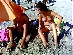 young topless teeen on mallorca beach