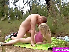 Amateur Aussie gf fucks in the outback