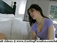 Natalia Rogue and Aiden Ashley blonde and brunette lesbian babes sleeping and kissing