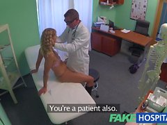 FakeHospital blonde gets her hot pussy pulverized