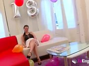 Nicole celebrates her 18 birthday by being deflowered for FAKings!