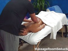 Teen seduced in massage room