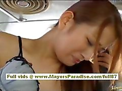Nao Yoshizaki Sexy asian doll enjoys on a bus ride