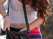 Beautiful amateur redhead teen Kassondra Raine public sex