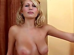 Sweet girl is gaping tight muff in closeup and having orgasm