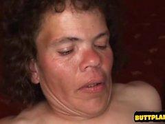 Young model deepthroat gag