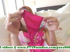 Lacie adorable redhead woman stuffing panties in her pussy