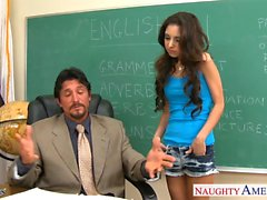 Small titted schoolgirl Trinity St Clair fucking teacher