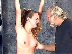 Beutiful brunette Nicole bondage tits pain punishment