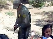 Latina caught trying to sneak and fucked at the border