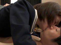 Japanese teen Rio Sakura enjoys blowjob and cumshot