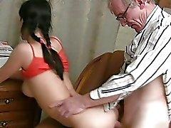 Teacher is getting wet blowjob