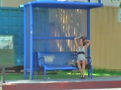 Gigi Rivera Bus Stop Masturbation