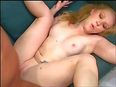 Pigtailed cutie gets buttfucked