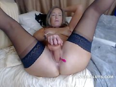 Shaved Milf Chick Playing With Her Pussy