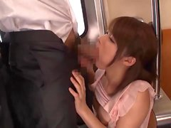 Sexy Japanese Girl have sex in Train