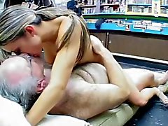 Jane Fucked by Fat Old Man in Adult Store