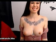 Busty Tattooed Bitch Loves Her Little Black Friend