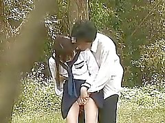 Teen School Girl Outdoor Garden Fuck