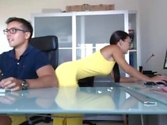 Hot Couple on Webcam 1 Amateur Blowjob Fuck on Table