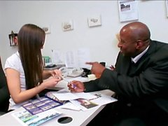 real estate agent knows how to close the deal interracial big black cock