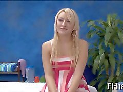 18 year old girl blows her pervy masseur