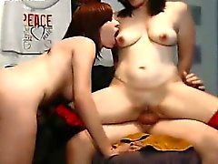 Young Redhead Lover Joins Amateur Couple